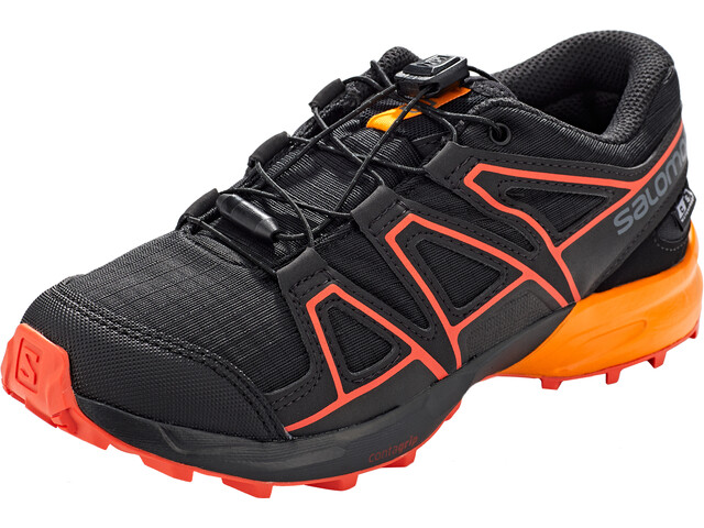 Salomon Speedcross CSWP Chaussures Enfant, black/tangelo/cherry tomato